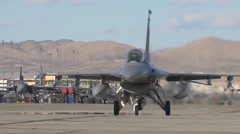 An F-16CM assigned to the 4th Fighter Squadron at Hill AFB, Utah Stock Footage