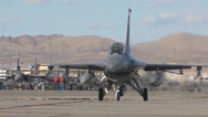 Stock Video Footage of An F-16CM assigned to the 4th Fighter Squadron at Hill AFB, Utah