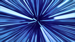 Light Speed Blue Stock Footage