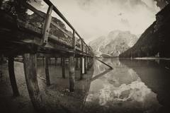 Braies Lake, Italy Stock Photos
