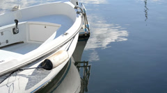 Boat reflection Stock Footage