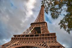 Majesty of Eiffel Tower Stock Photos