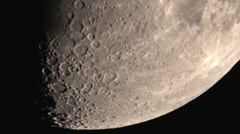 Roving camera across moon surface showing off craters HD Stock Footage