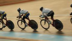 Cycling Track Training Velodrome Stock Footage