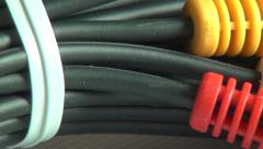 Cables, Wires, Coax, Technology Stock Footage