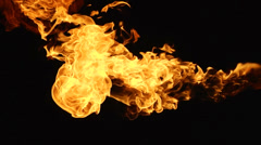 Fire black background 4 Stock Footage