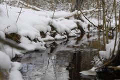 Small river at winter Stock Photos