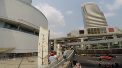 Traffic during the day from National Stadium BTS station Stock Footage