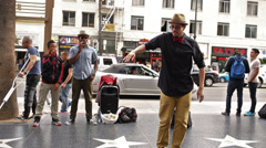 Breakdancer Breakdancing Hollywood Dancer Hip Hop Los Angeles LA California Stock Footage