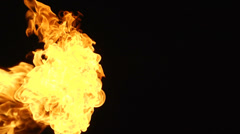 Fire black background 2 Stock Footage