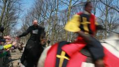 Medieval Knights Joust - stock footage