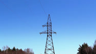 Closer look of the electricity tower Stock Footage
