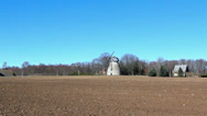 The old windmill in the country Stock Footage