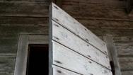 Wooden shakes of a door Stock Footage