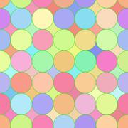 An abstract mosaic seamless pattern. Stock Illustration