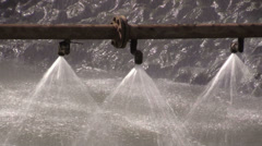 The Spray cooling system Stock Footage