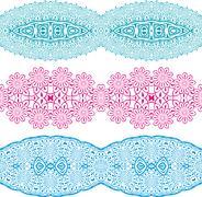 linear floral ornament. - stock illustration