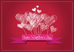 Love and hearts for valentine design Stock Illustration