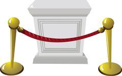 empty pedestal - stock illustration