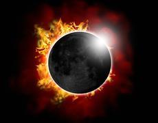 Solar eclipse - stock illustration