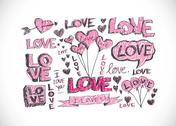 Stock Illustration of love and hearts for valentine design