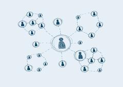 Social media network circles Stock Illustration