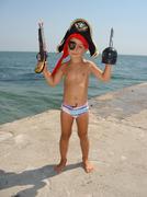 Little Happy Pirate 2 Stock Photos