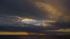 Timelapse sunset at sea Stock Footage