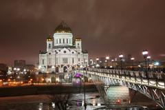 temple of the christ of the savior in moscow - stock photo