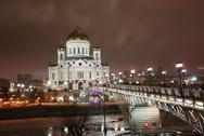 Stock Photo of temple of the christ of the savior in moscow