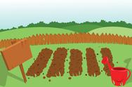 Stock Illustration of vegetable garden