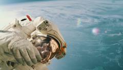 Astronaut on a spacewalk. High quality 4K footage. Stock Footage