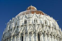 Piazza dei Miracoli in Pisa after a Snowstorm - stock photo