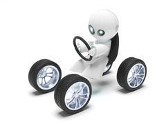 Stock Illustration of little white robot