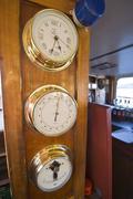 Marine Instruments on a Cruise Boat, Australia Stock Photos