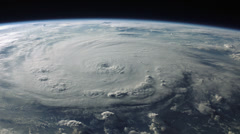 Breathtaking satellite view of a hurricane. 4K version. Stock Footage