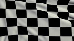 Black And White Chequered Flag looping Stock Footage