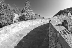 Devils Bridge Fisheye View, Lucca Stock Photos