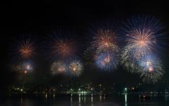 pattaya international firework festival - stock photo