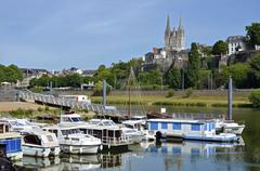 Port of Angers in France Stock Photos