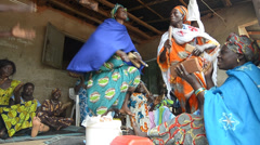 African dancing Stock Footage
