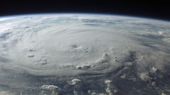 Menacing view of a hurricane. Incredible 4K footage. - stock footage