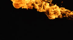 Fire black background 3 Stock Footage