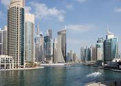Stock Photo of modern buildings in dubai marina