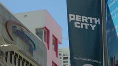 Buildings at hay street mall, perth, australia Stock Footage
