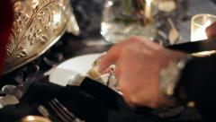 Cutting a Piece of Cake Stock Footage