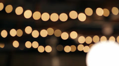 Stringed Lights Defocused Stock Footage
