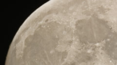 Panning across Moon's surface showing off craters HD Stock Footage
