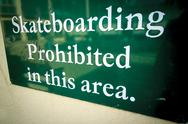 Stock Photo of No skateboarding