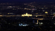 Stock Video Footage of 4K Budapest Hungary by Night Aerial View Timelapse 1